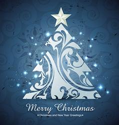 Artistic christmas tree vector