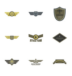 Attack icons set flat style vector