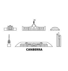 australia canberra line travel skyline set vector image