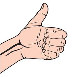 Autostoperski prst beli vector image