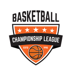Basketball sport emblems design element for vector
