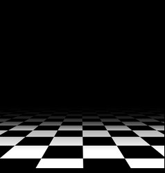 Black and white chess floor background vector