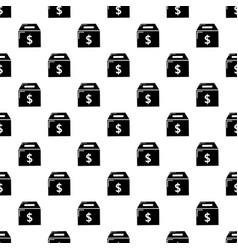 box money pattern seamless vector image
