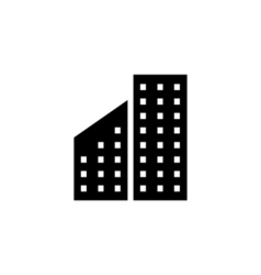 Building icon flat vector