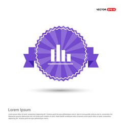 business graph icon - purple ribbon banner vector image