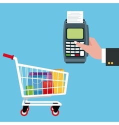 Cart and shopping design vector