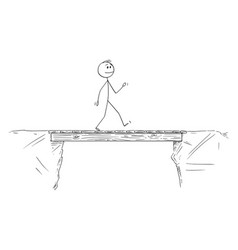 cartoon man or businessman walking vector image