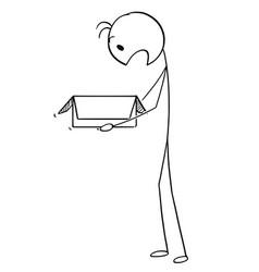 cartoon surprised man or businessman looking vector image