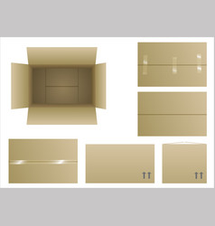 closed and open boxes vector image