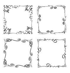 collection of squiggly frames rectangles vector image