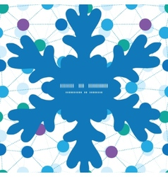 Connected dots christmas snowflake silhouette vector