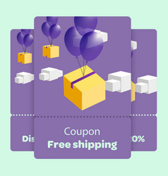Coupon promotion with flat vector