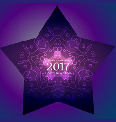 Creative new year 2017 background with star and vector