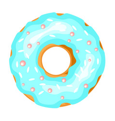 donut icon small fried cake in shape ring vector image