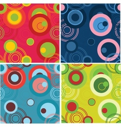 Dots and circles background set vector image