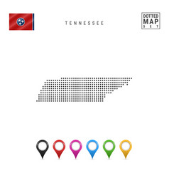 Dots pattern map tennessee stylized silhouette vector