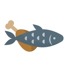 Fish meat vector