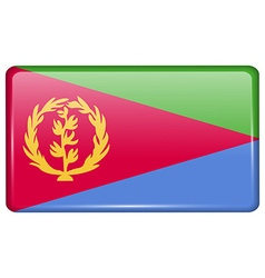 Flags Eritrea in the form of a magnet on vector