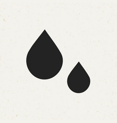 flat drops icon vector image