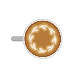 flat icon of morning aroma coffee circle vector image