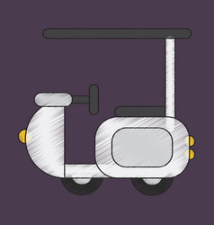 flat shading style icon golf machine vector image