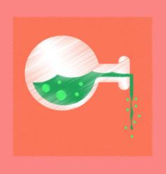 flat shading style icon potion bottle vector image