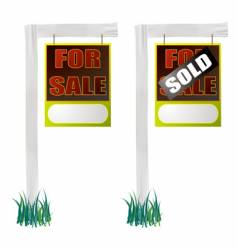 For sale sign hang vector