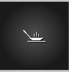 frying pan icon flat vector image