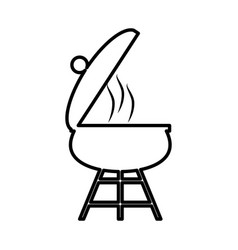Grill bbq picnic cooking outline vector