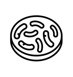 Gut bacteria line icon vector