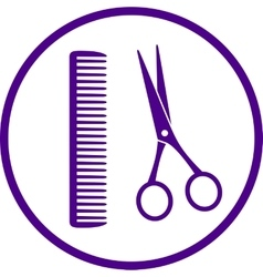 hairdresser sign with scissors vector image