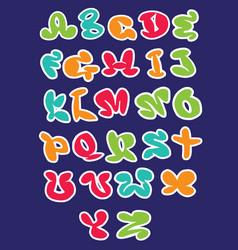 Hand drawn alphabet lettersmarker handwritten vector