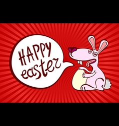 happy easter day for red card design vintage vector image