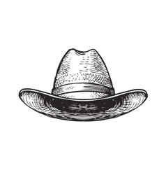 Hat farmer gardener or cowboy sketch vector