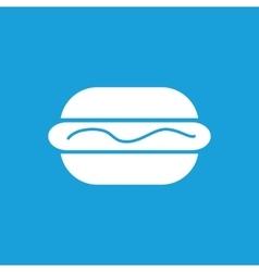 Hotdog with sauce icon white vector image
