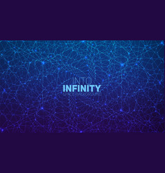 Infinite twisted hexagonal space background vector