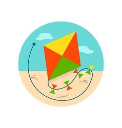 Kite icon Summer Vacation vector image