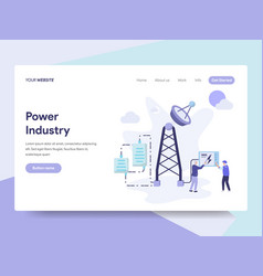 landing page template power industry concept vector image