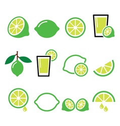Lime - food icons set vector