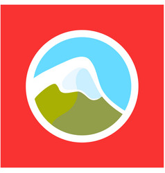 Logo with swiss alps vector