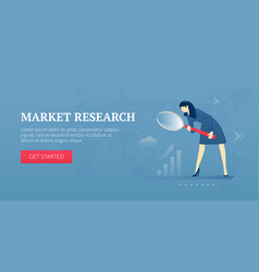Market research web banner vector