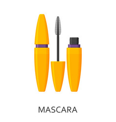 mascara make up background cosmetic icons vector image