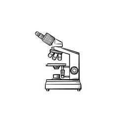 microscope hand drawn outline doodle icon vector image