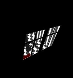murderer in house vector image