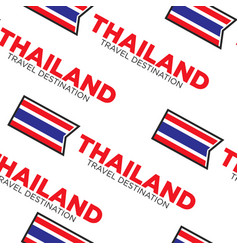 national flag thailand travel destination seamless vector image