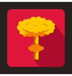 Nuclear explosion icon flat style vector