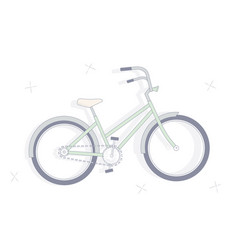 on white background bicycle vector image