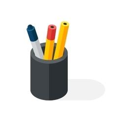 Pen box vector