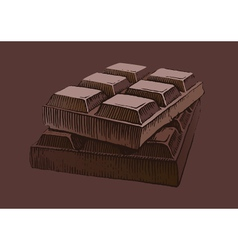 Piece chocolate vector