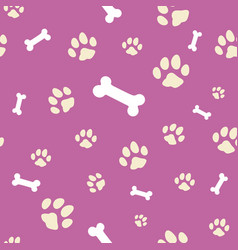 pink bone and paw texture vector image